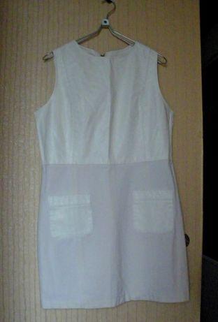 Платье-футляр River Island офисное нарядное деловое белое р.16 сукня