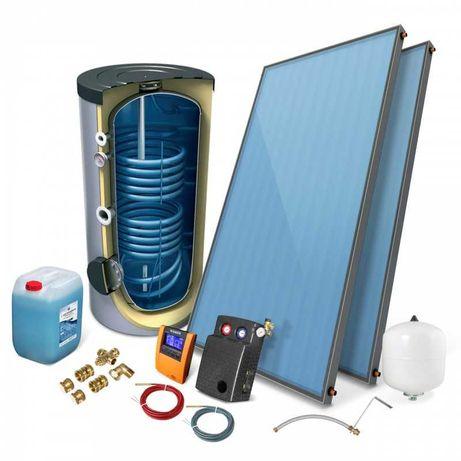 Zestaw Solary kolektory słoneczne +zasobnik 200 l/RATY/Montaż