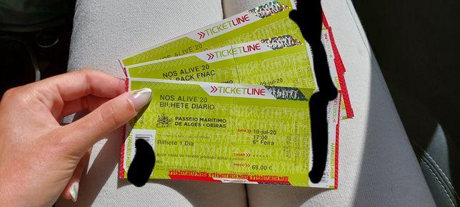 Vendo 3 bilhetes diários Nos Alive'22