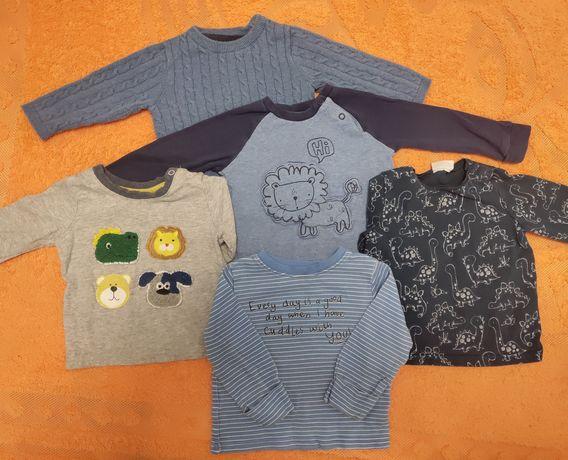 Набор кофточек для мальчика на осень 6-9 м.