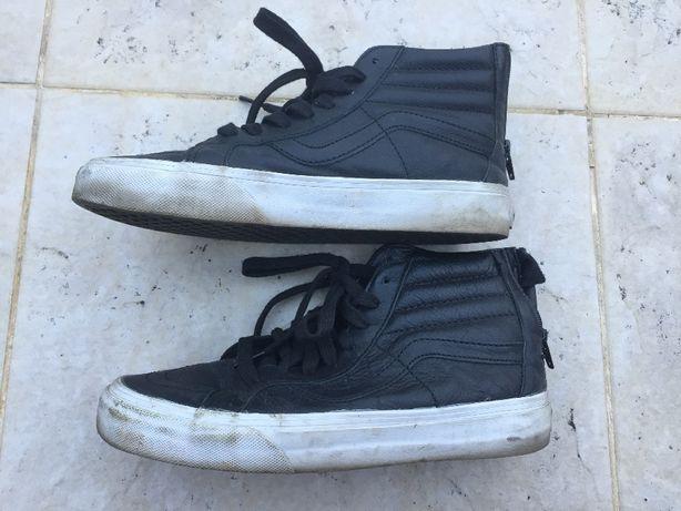 Buty Vansza za kostkę, czarne, skóra, roz. 38,5