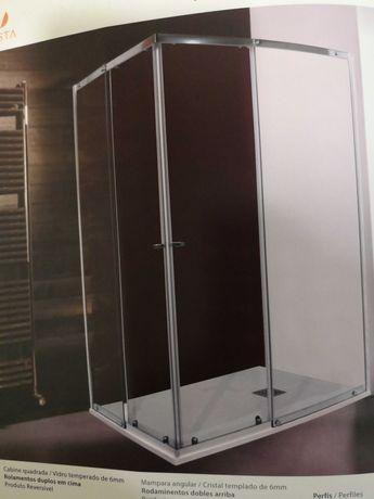 Cabine Resguardo duche retangular 80x100