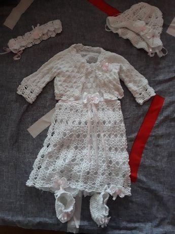 Sukienka na chrzest szydełko