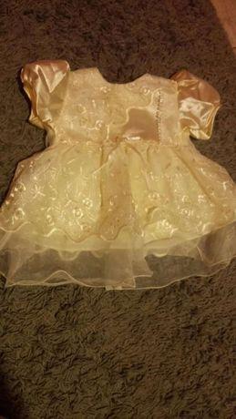 Sukienka ecru 56 chrzest