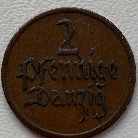 Данциг 2 пфеннига 1923 год