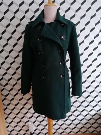 Marks&spencer płaszcz butelkowa zieleń r 44 kurtka