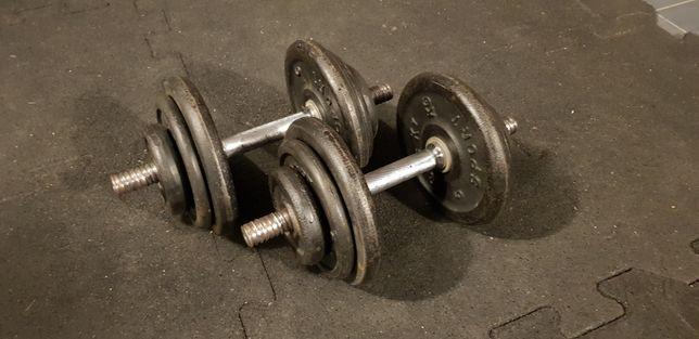 Hantle żeliwne  od 2x20 kg do 2x50 kg