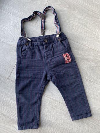 Spodnie r 80 niemowlęce z szelkami