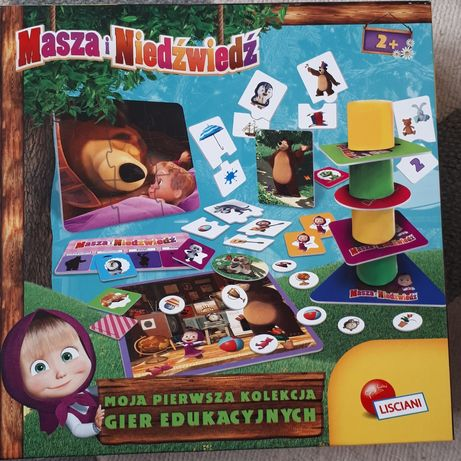 Zestaw gier edukacyjnych 2+ masza i niedźwiedź