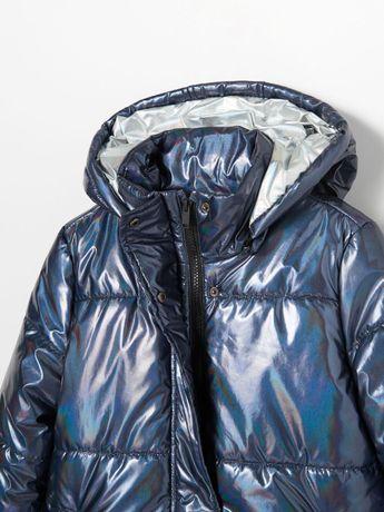 Płaszcz z holograficznym połyskiem- RESERVED