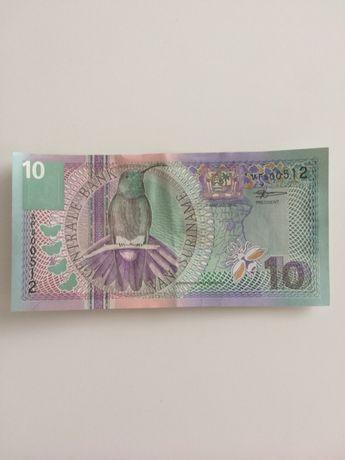 10 суринамских долларов
