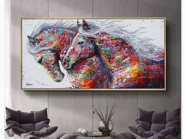 Obraz druk na płótnie - konie 120x60