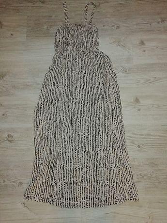 Długa sukienka zwiewna QuZu rozmiar 38/M stan idealny