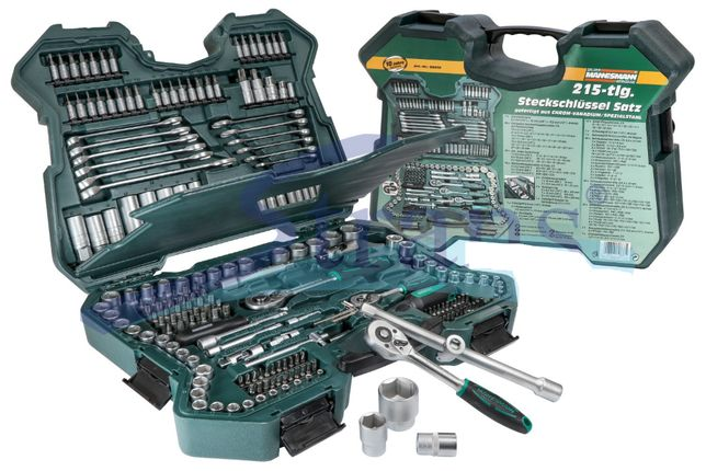 Набор инструментов Mannesmann 215 tlg M98430 набір інструмента ключі
