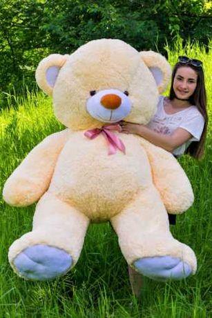 Роскошный большой медведь 190 см, мягкий плюшевый мишка кремовый