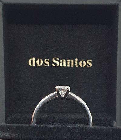 Anel De Diamante -NOVO Nunca Usado- Certificados do diamante e do anel
