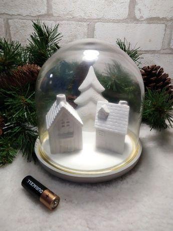 Рождественская композиция декор деревня шар Англия