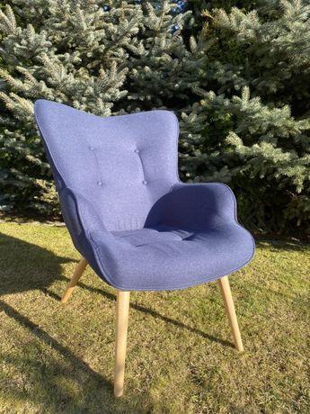 Fotel Granatowy 88x60x65cm