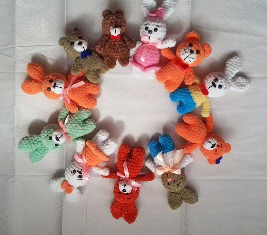 Карманные игрушки зайки ручной работы