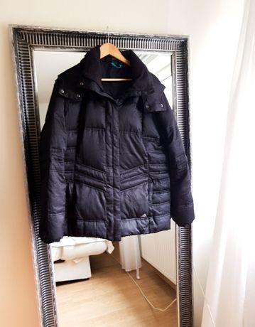 ADIDAS kurtka sportowa czarna 40 L zimowa kurtki damskie