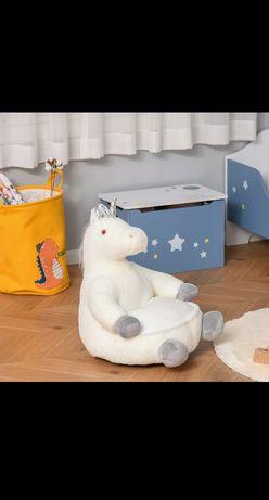 Fotel dziecięcy jednorożec