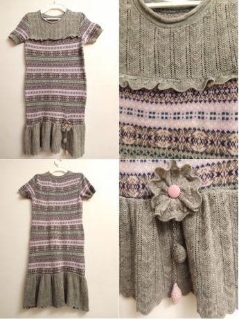 Вязаное платье р.134 ТМ FLASH