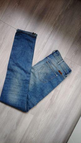 Spodnie dżinsy jeans skinny low waist Wrangler XS 26/32