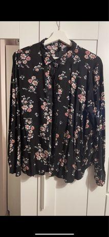 Koszula w kwiaty 100% wiskoza H&M