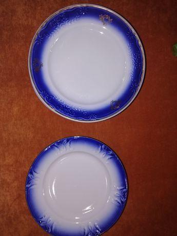 Тарелки кобальт с позолотой диаметр 20 см