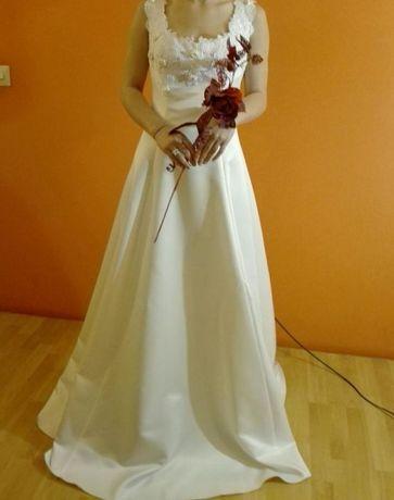 Suknia ślubna śmietankowa rozmiar Xs , S