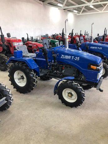Трактор,ЗУБР Т 25+фреза 140 +2к плуг,Міні трактор,Мототрактор , ZUBR