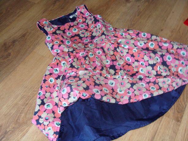 Sukienka kwiaty dla dziewczynki