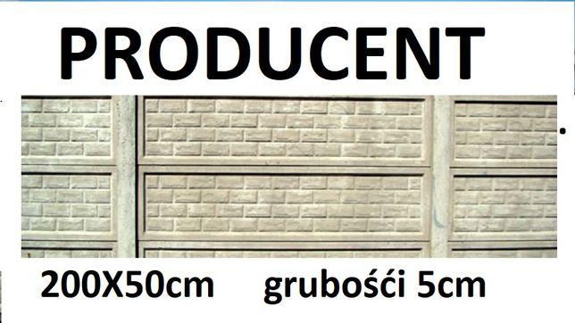 Ogrodzenie Betonowe , płyta 200x50cm Producent