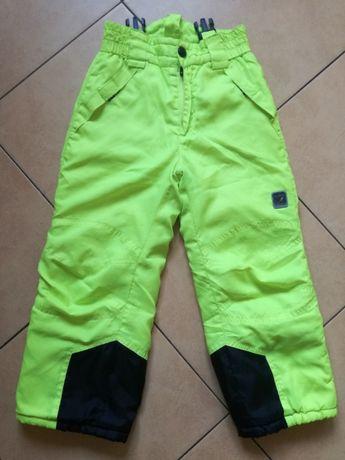 5.10.15 spodnie narciarskie jaskrawe żółte roz. 110