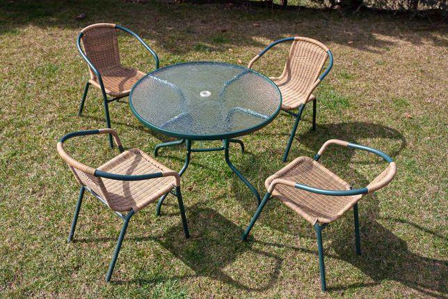 Stolik ogrodowy 4 krzesła