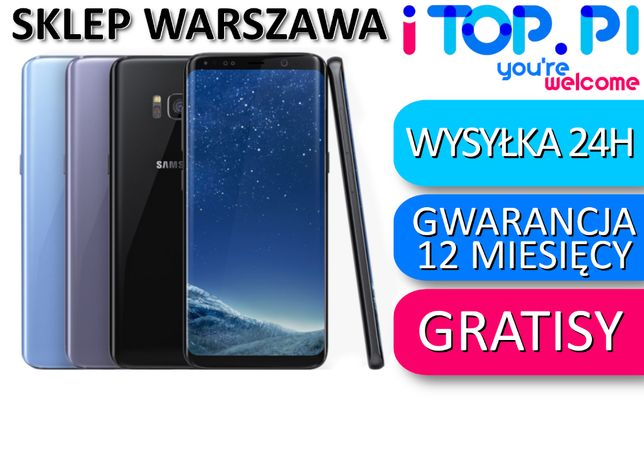Samsung Galaxy S8 64gb Black/Gold/Silver/Rose Sklep Warszawa