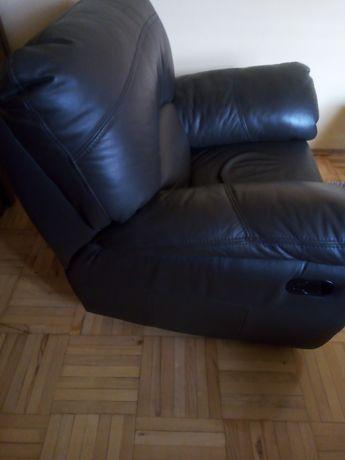 Duży fotel 100% skóra