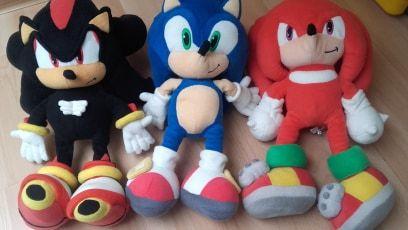 Maskotka Sonic, Knuckles, Shadow zestaw 30cm