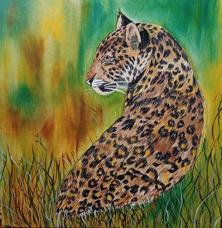 Картина маслом на холсте Леопард