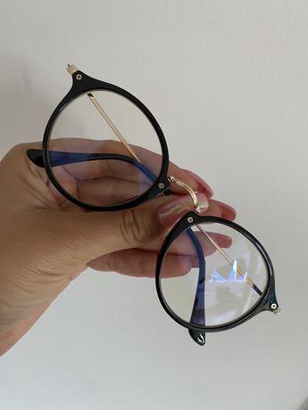 Okulary korekcyjne oprawki czarno złote zerówki