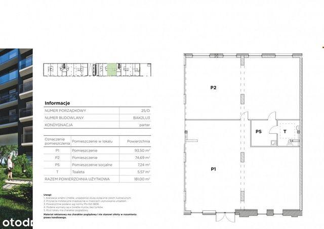 Lokal 181m2   gotowy   budynek Premium   Kępa