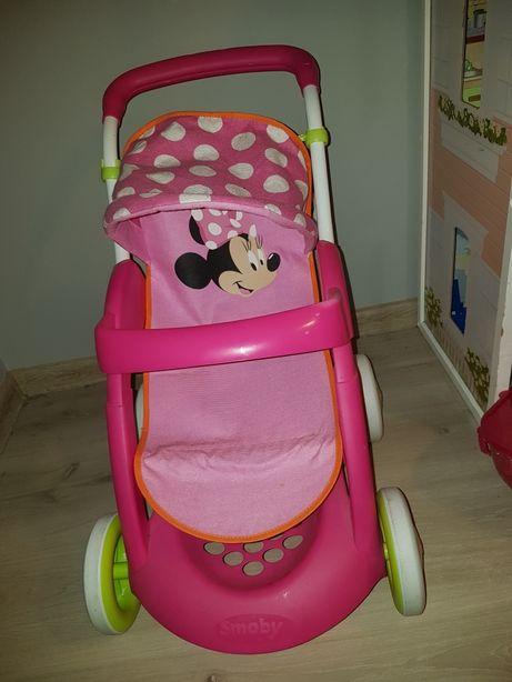 Różowa spacerówka z Myszką Minnie