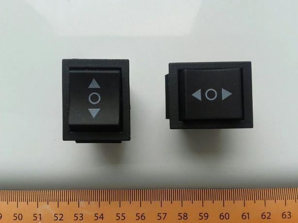 Przełącznik kołyskowy, 3-pozycje On-Off-On automatyczny powrót, 6-pinn