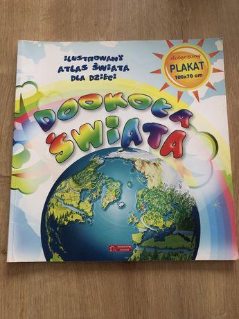 """Książka atlas """"Dookoła Świata"""" wyd. Olesiejuk"""