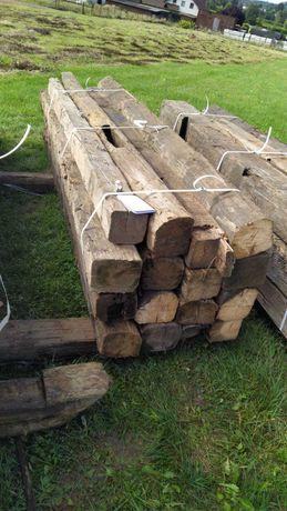 Antyczne belki drewniane z rozbiórki