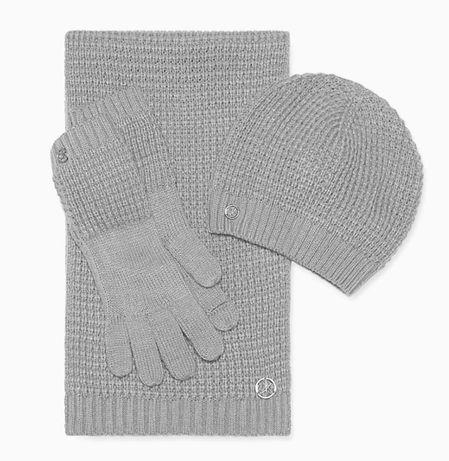Шарф, шапка, перчатки Calvin Klein. Оригинал, новый набор.
