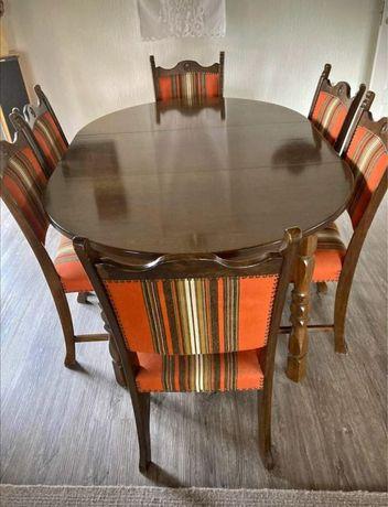 Stół rozkładany 260cm  i 6 krzeseł