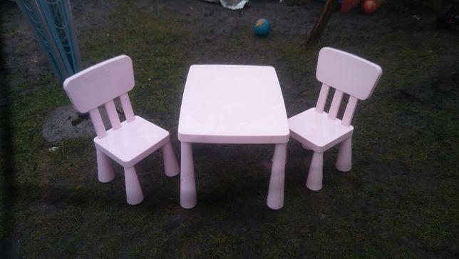 stolik dwa krzesełka mamut