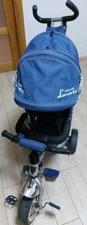 Велосипед детский трехколесный с родительской ручкой LamborTRIKE!