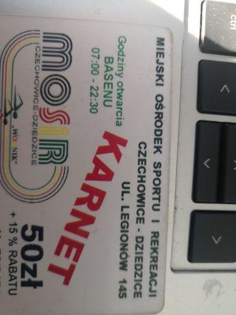 Karnet na BASEN kryty MOSIR w Czechowicach Dziedzixach